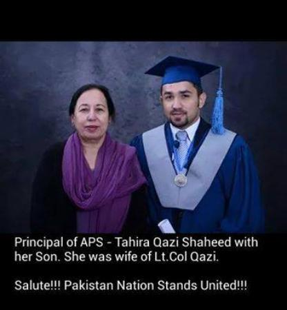 Martyr Tahira Qazi With Her Son