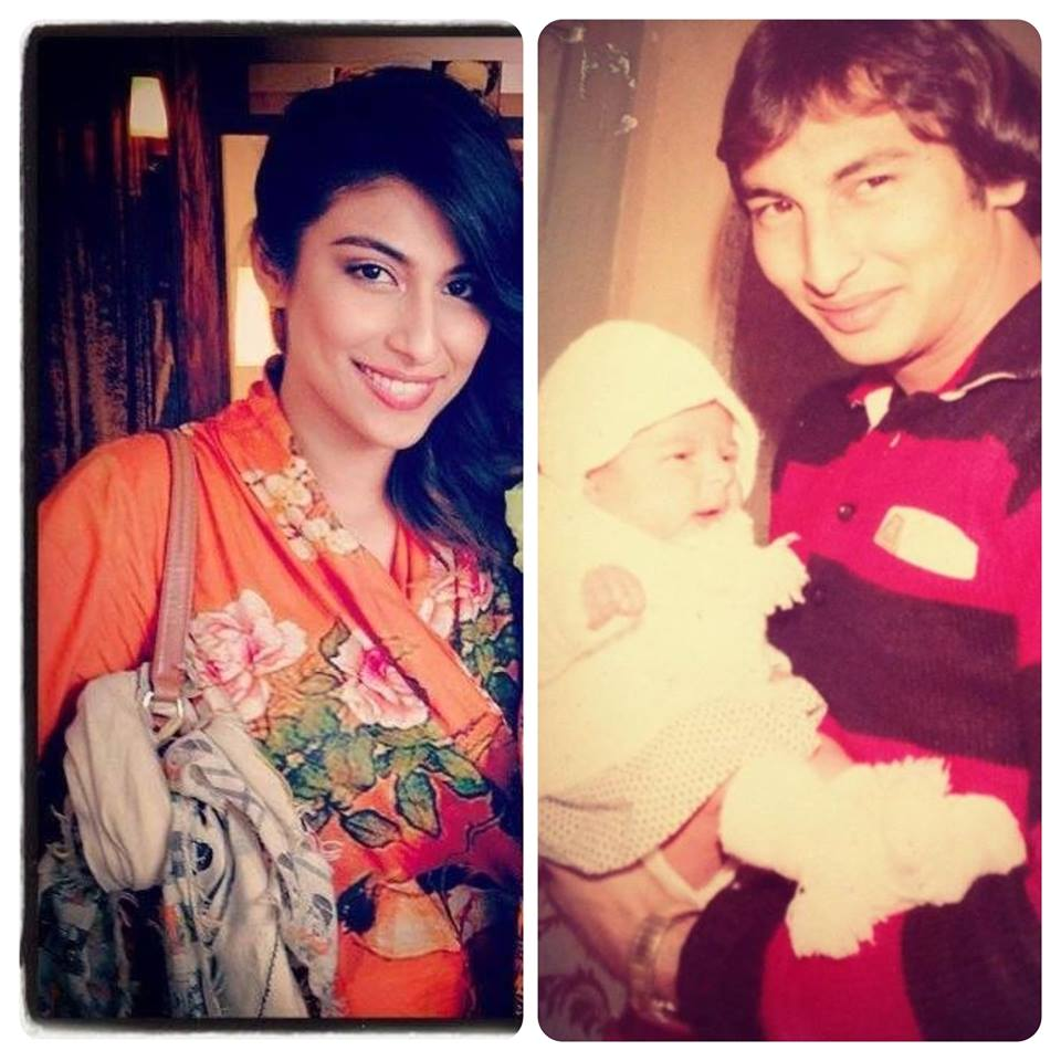 Meesha Shafi's Childhood Picture With Her Dad