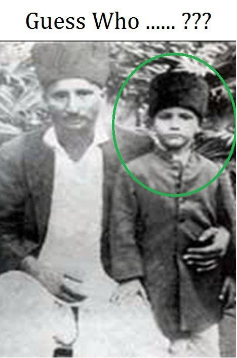 Mohtaram Allama Iqbal Sahib as -a child with his Uncle