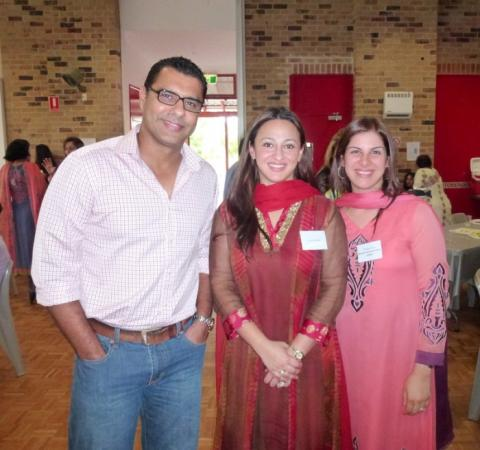 Mr & Mrs Waqar Younis Pakistani Star fast Bowler