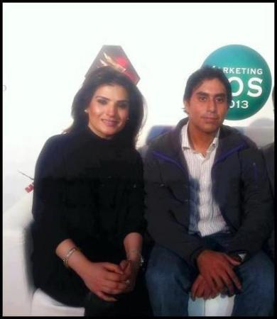 Nasir Jamshed with Film Star Resham