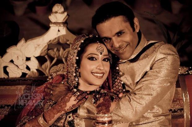 Pakistani Anchors Kashif Abbasi & Mehar Bukhari Wedding Pic