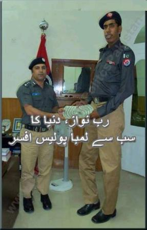 Rabnawaz Tallest Police Officer