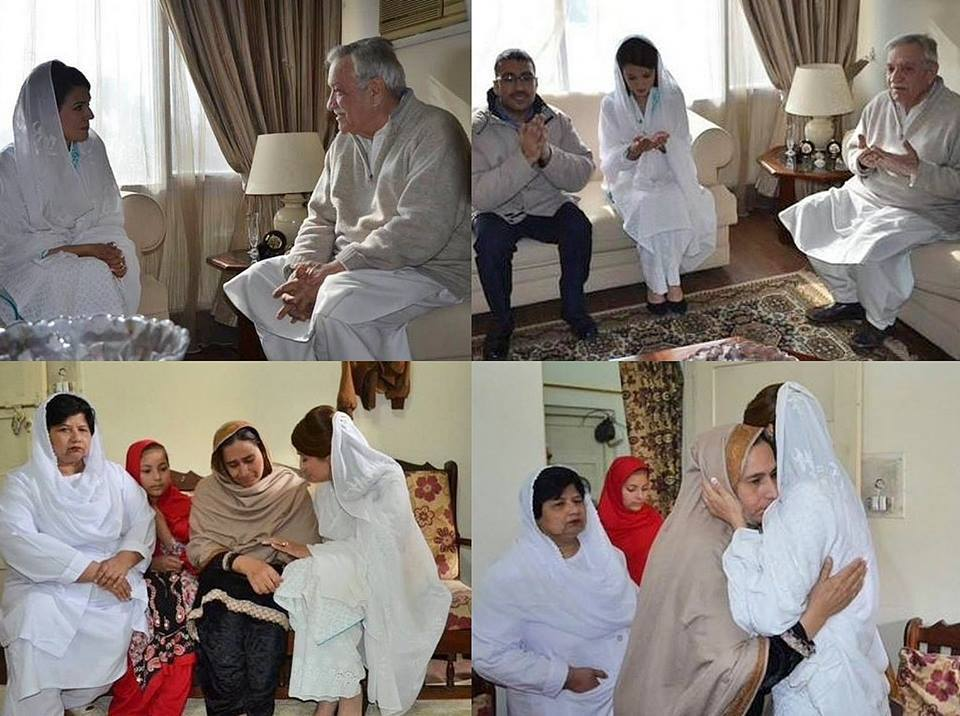 Reham Khan Visited The Families of Peshawar Attack Victims