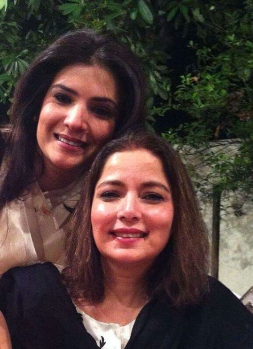 Resham with Babra Sharif