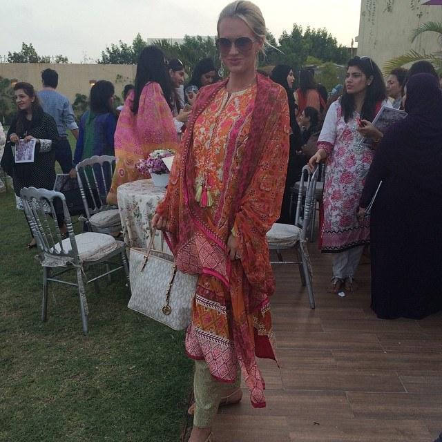 Shaniera Wasim Akram in LSA Lawn Launch