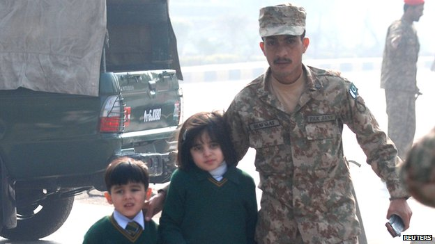 Troops Helped Children To Evacuate From The School