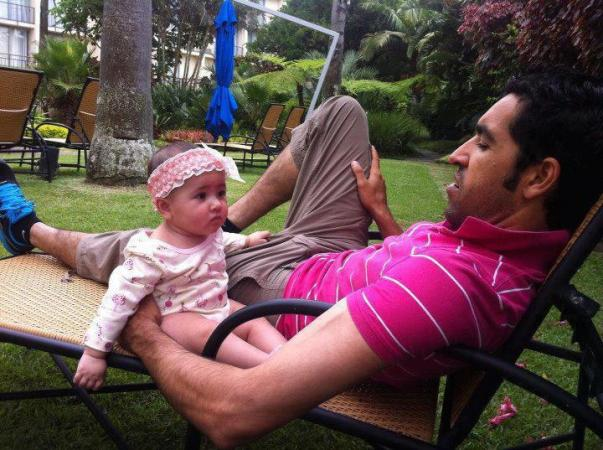 Umar Gul With His Daughter Rehab