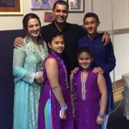Waqar Younis With Family
