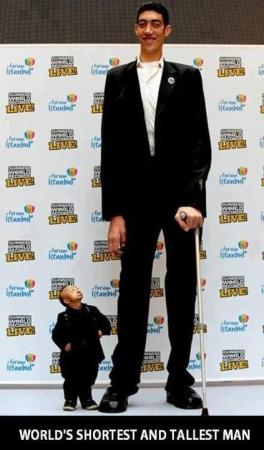 World Shortest and Tallest Man