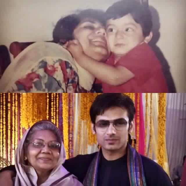 Zahid Ahmed with his Mother