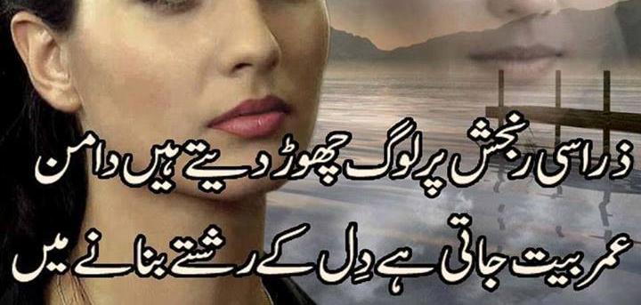Zara Si Ranjish Par Log Chor Detay Hain Daman