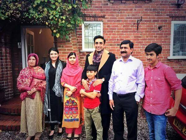 Bilawal And Aseefa meet Malala in Birmingham