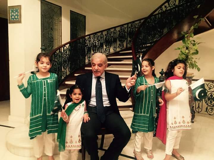 CM Punjab Shahbaz Sharif Celebrating Independence Day
