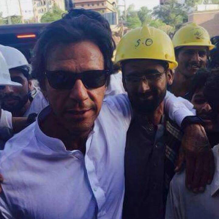 Chairman Imran Khan With Team Building SKMH Peshawar