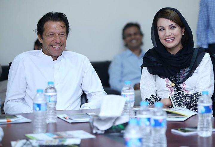 Charming Reham Khan With Imran Khan