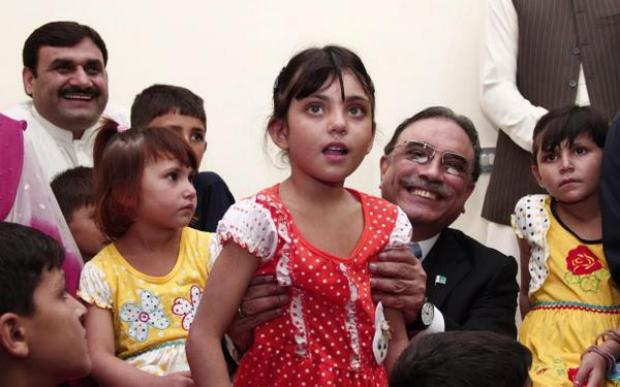Former President Asif Ali Zardari adopted 25 children of the IDP