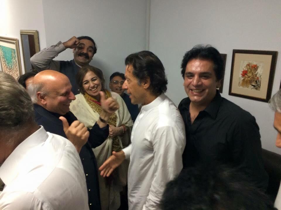 Imran Khan And Team Celebrating Victory On NA-122