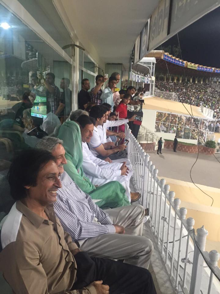 Imran Khan With Reham Khan Spotted At Gaddafi Stadium