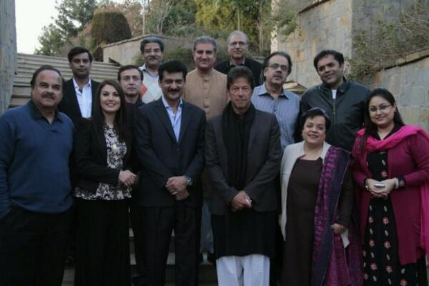 Imran Khan With TV Anchors