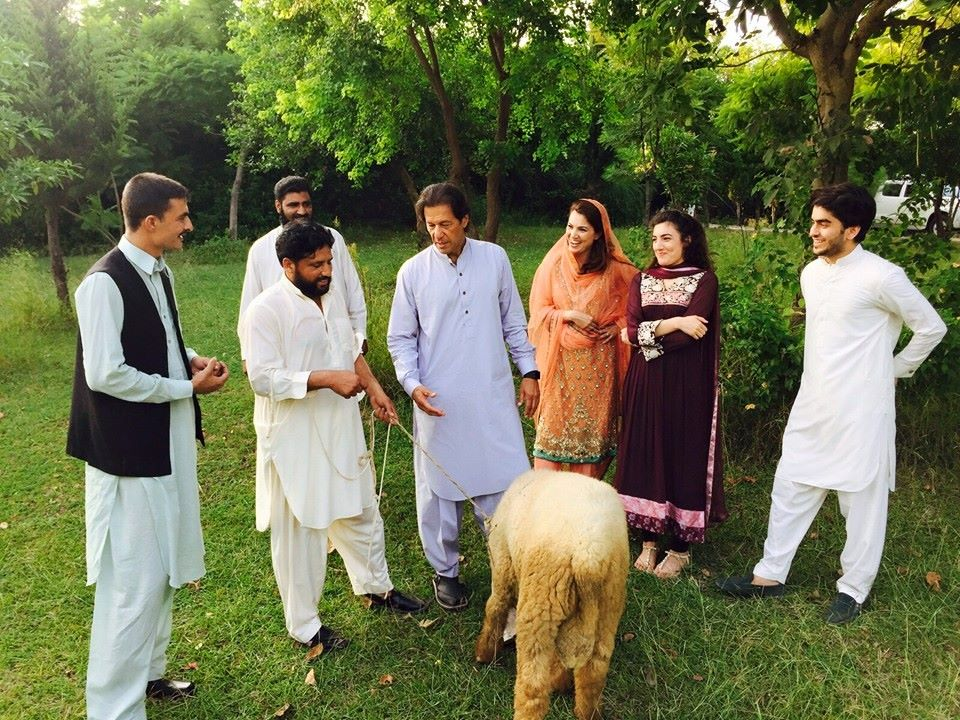 Imran Khan with Family on Bakra Eid