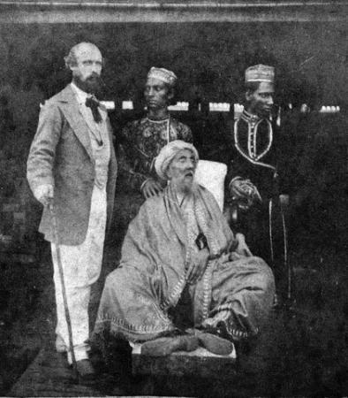 Last Mughal Emperor Bahadur Shah Zafar during his exile