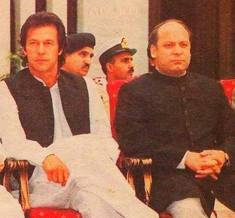 Mian Nawaz Sharif With Imran Khan An Old Photo