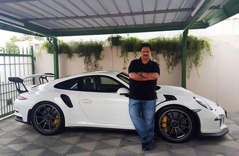 Nabil Gabol With His Porsche 911 Carrera