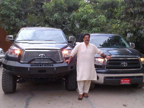 Nabil Gabol with his cars
