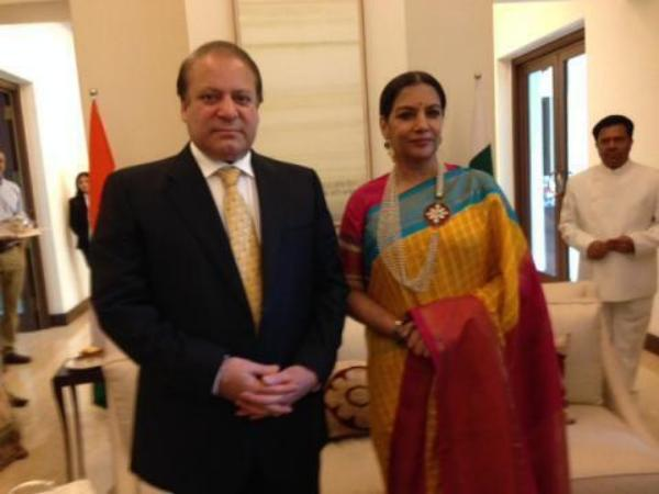 Nawaz Sharif With Shabana Azmi