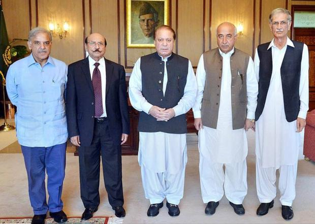 Nawaz Sharif With Chief Minister Of Provinces