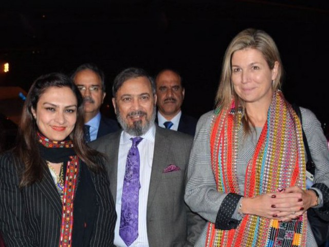 Netherlands Queen Maxima Arrives in Pakistan