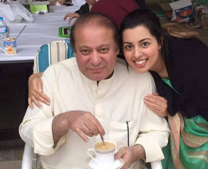 PM Nawaz Sharif & his granddaughter