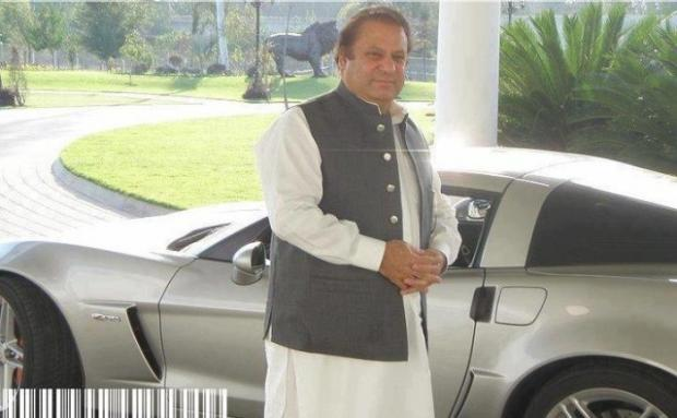 PM Nawaz Sharif with his Sports Car