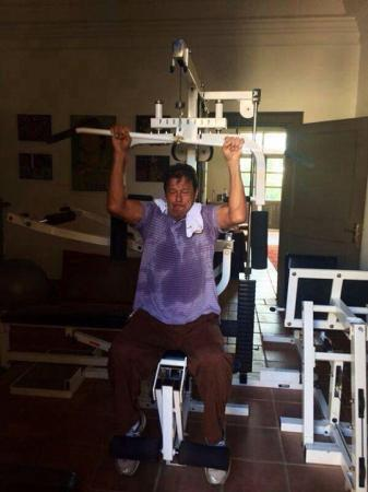 PTI Chairman Imran Khan Doing Hard Workout