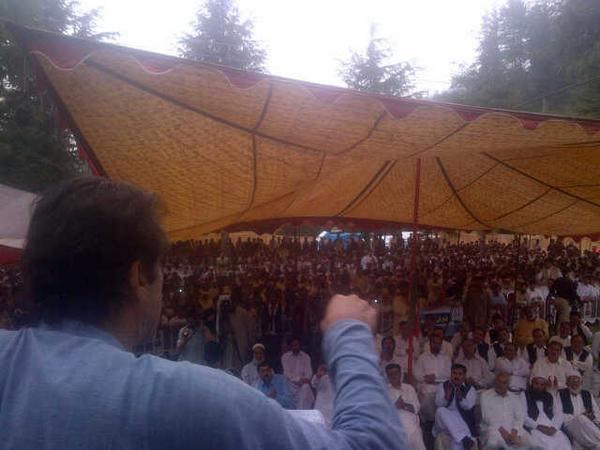 PTI Imran Khan Addressing Jalsa at Lal Kooh, Swat