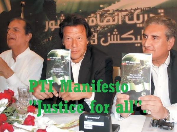 PTI's manifesto - Justice for all