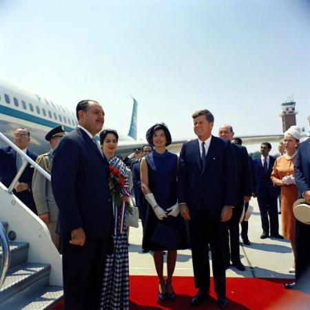 President John F. Kennedy Receiving President Ayub at Andrews AFB
