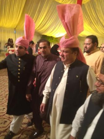 Prime Minister Nawaz Sharif At His Niece Wedding