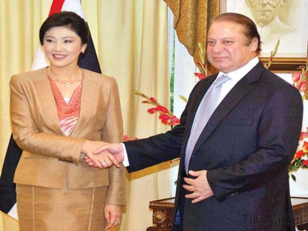 Prime Minister Nawaz Sharif and Thai Premier Yingluck Shinawatra