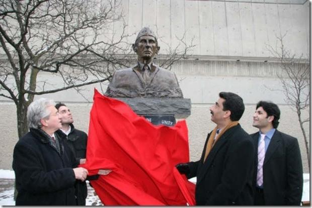 Statue of Quaid-e-Azam in York University, Canada