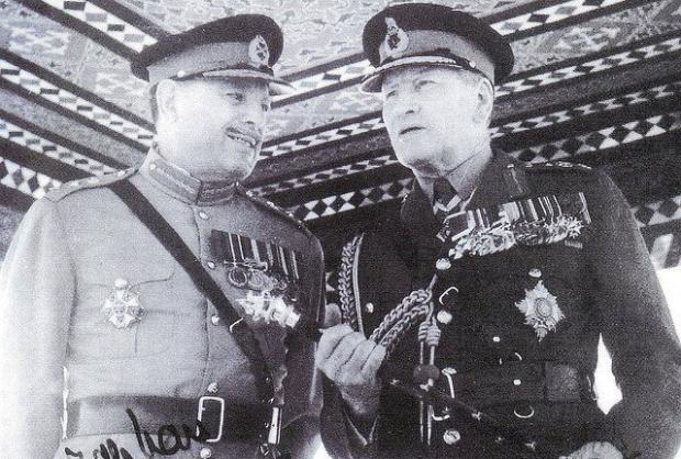 Two Field Marshals Ayub Khan with Sir Claude Auchinleck