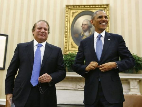 US President Obama hosts a meeting with PM Nawaz Sharif