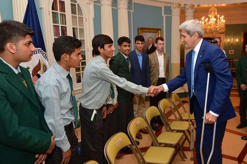United States Secretary of State John Kerry With Peshawar Army Public School