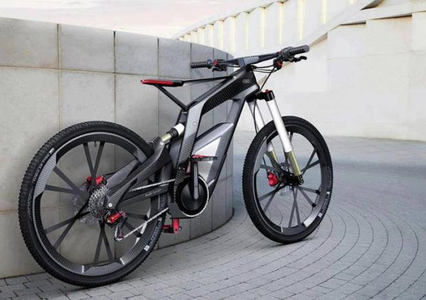 Audi e-bike, a bicycle that runs at 80 kmph