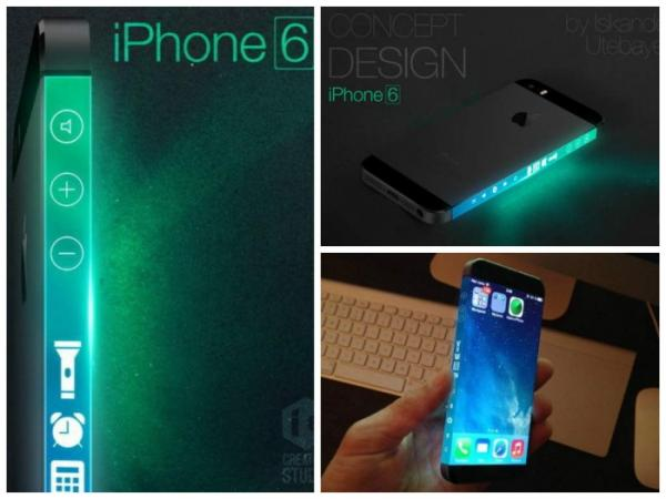 Concept iPhone 6 with the enveloping body screen