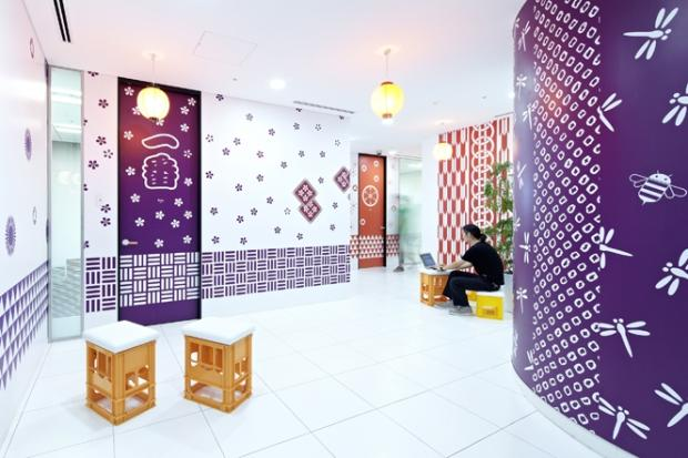 Google Japan's Colorful Office Interior