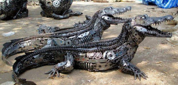 Just from Car Parts...Amazing...