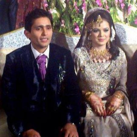 Adnan Akmal with his Wife on Valima Ceremony