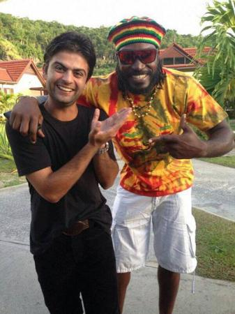 Ahmed Shehzad With Chris Gayle